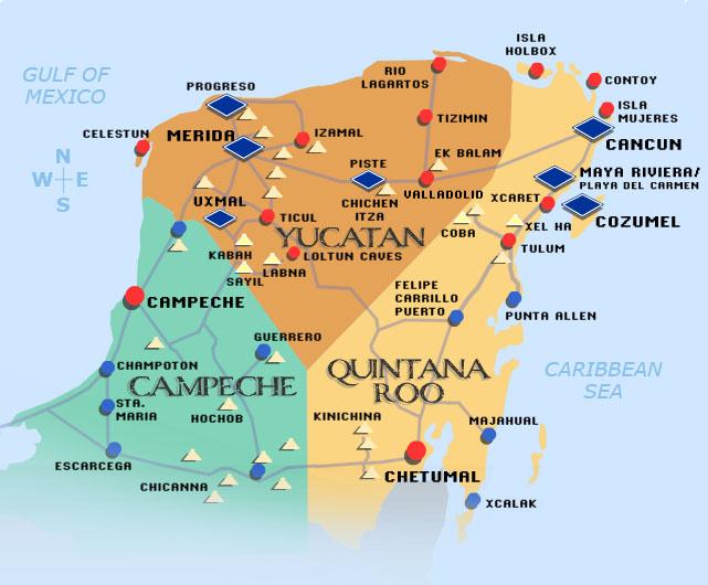 geological map of yucatan peninsula